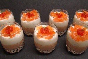 Verrine - mousse de saumon, mousse de fromage frais et émincé de saumon dsc07198-300x200
